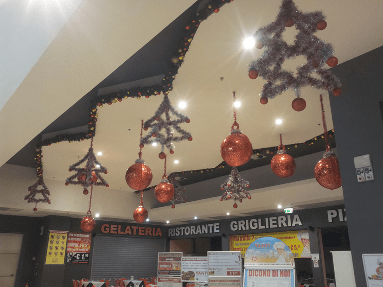 Luminarie interno negozi