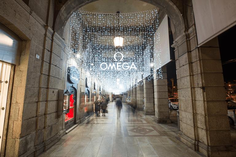 Luminarie esterno negozio