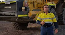 ironbark security our staff in front of heavy vehicle