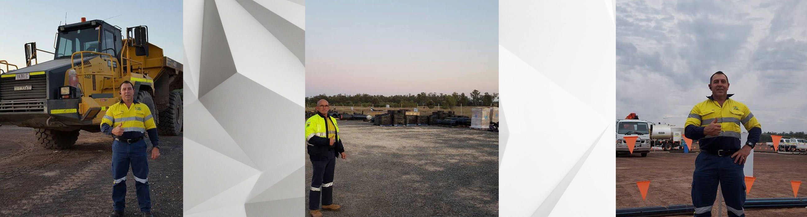 ironbark security property safety guard in front of heavy vehicle