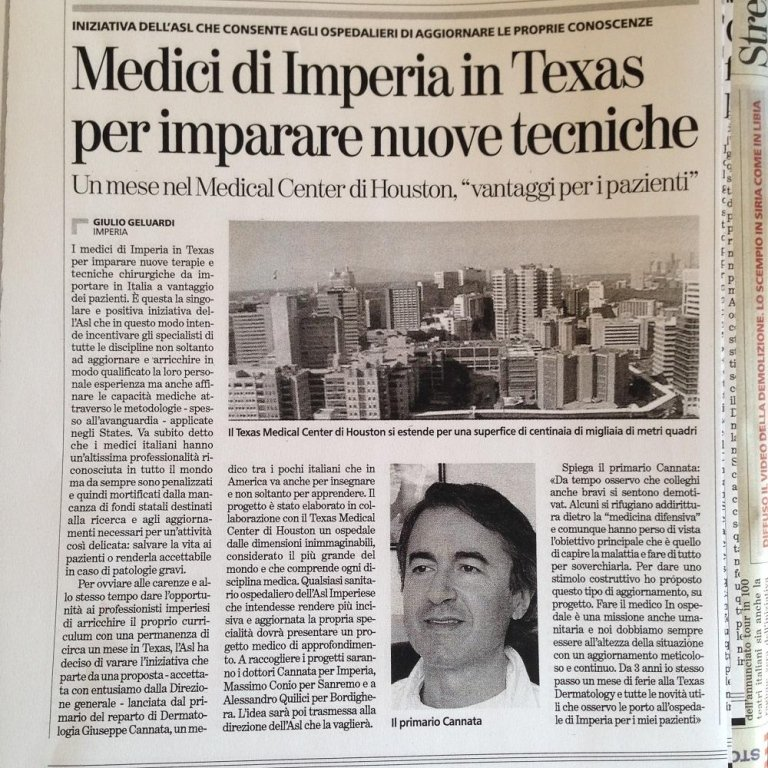 Imperia doctors visit Texas to learn new techniques