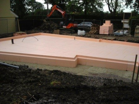Detached house slab