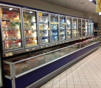 banchi frigo per supermercati, sistemi di refrigerazione, fabbricatori di ghiaccio