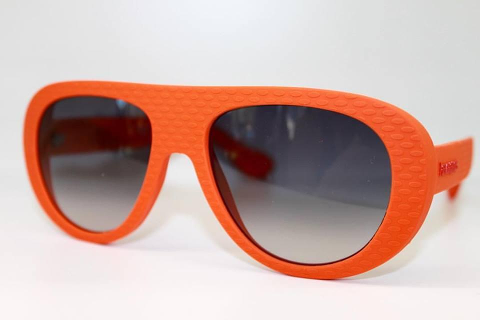 occhiali montatura arancione