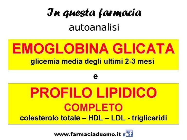 emoglobina glicata e profilo lipidico