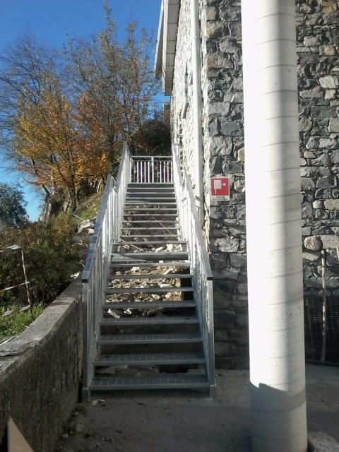Metal stairs in Lecco