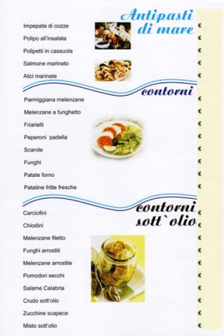 specialità sotto olio, primi di carne, griglieria