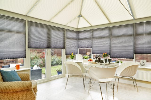 10% off Pleated Conservatory Blinds