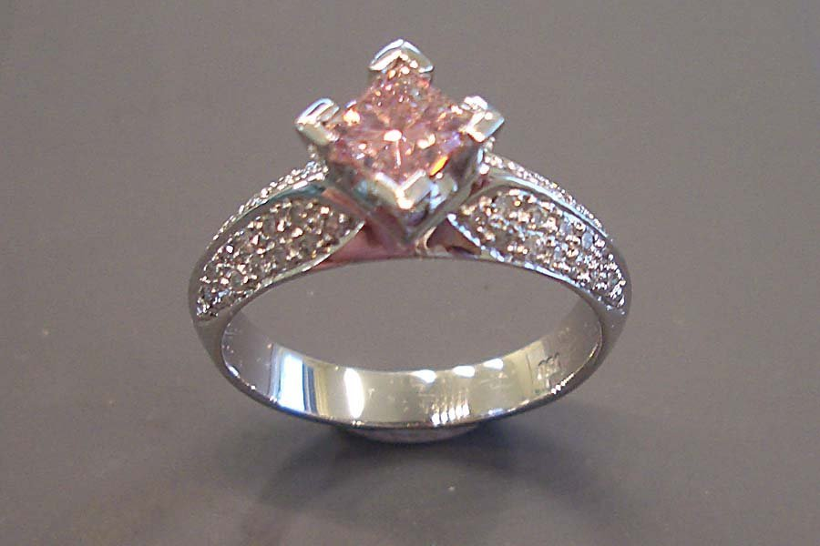 rose coloured stone ring