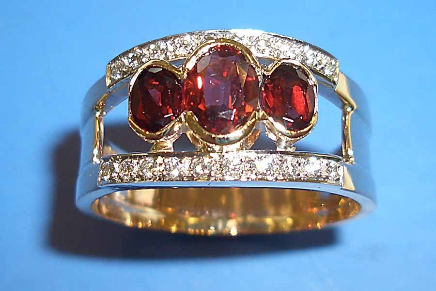 ruby and diamond accent ring