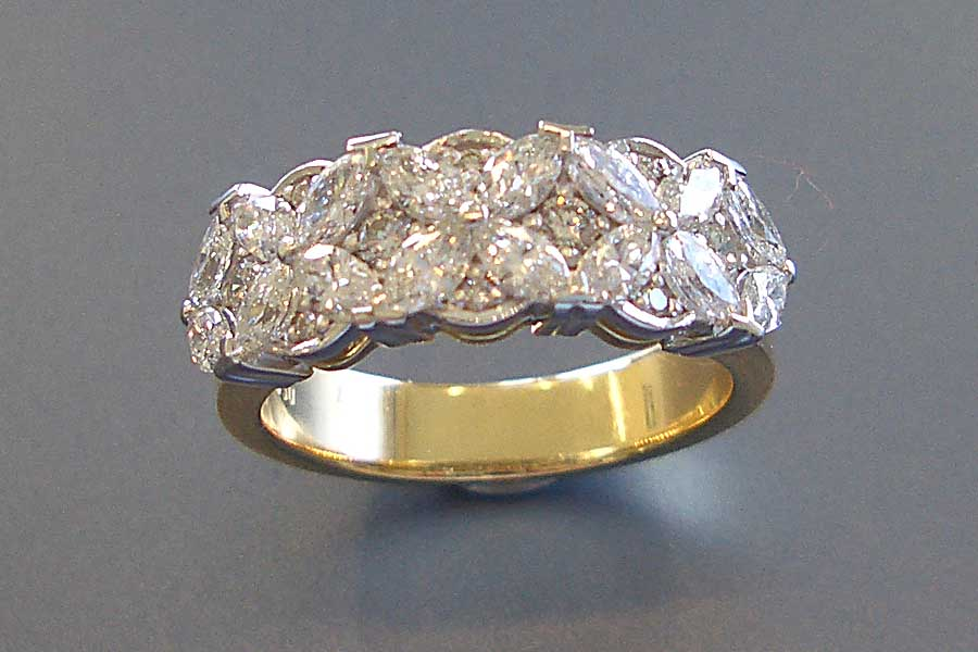 floral theme diamond ring