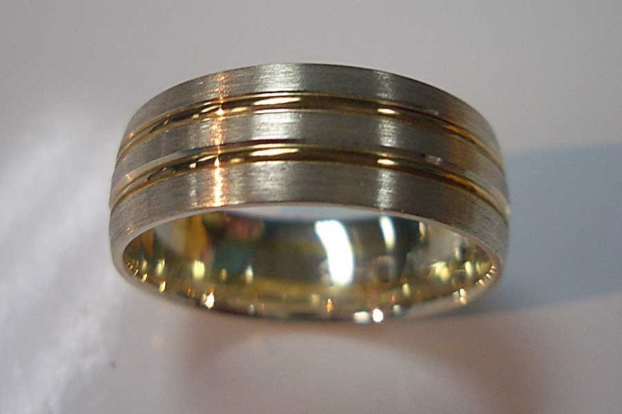 polished male ring