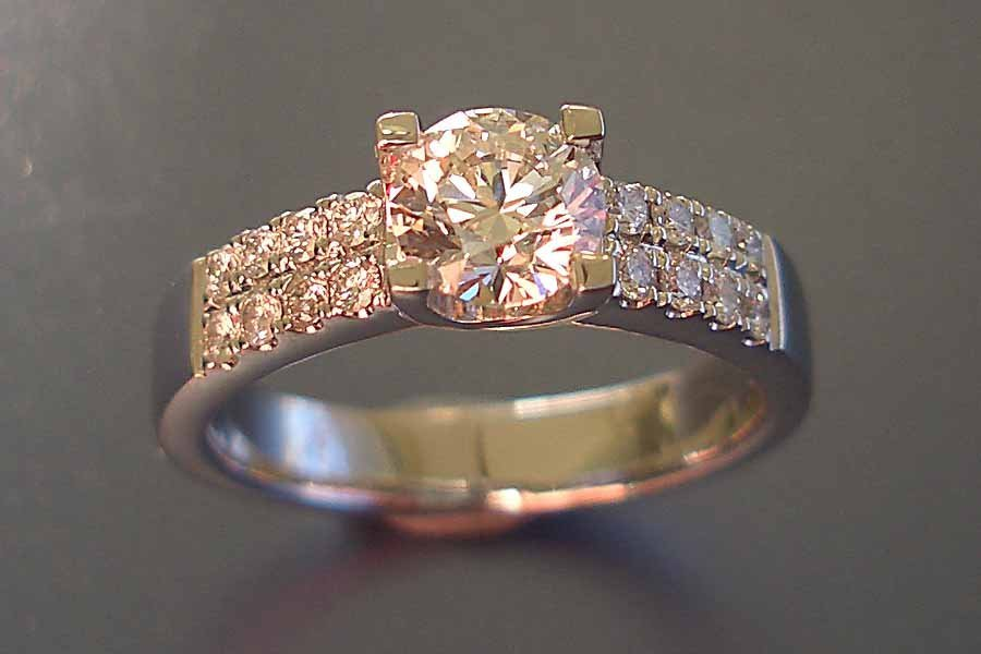 diamond ring with diamond band