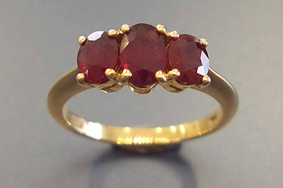 ruby trio ring