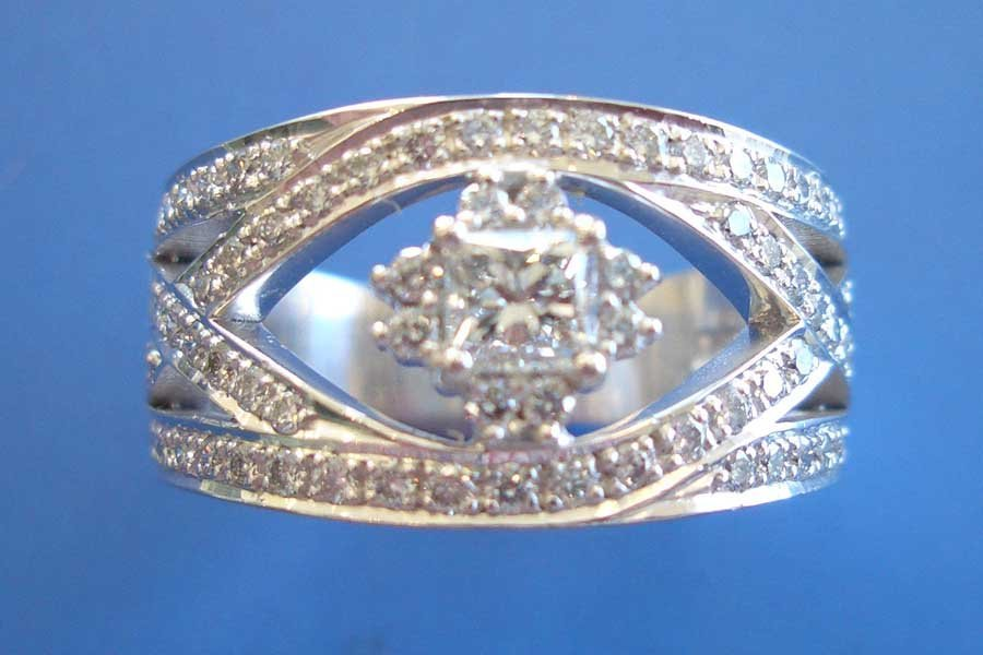 diamond ring with cutout design