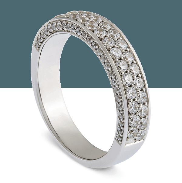 custom white gold and diamond ring