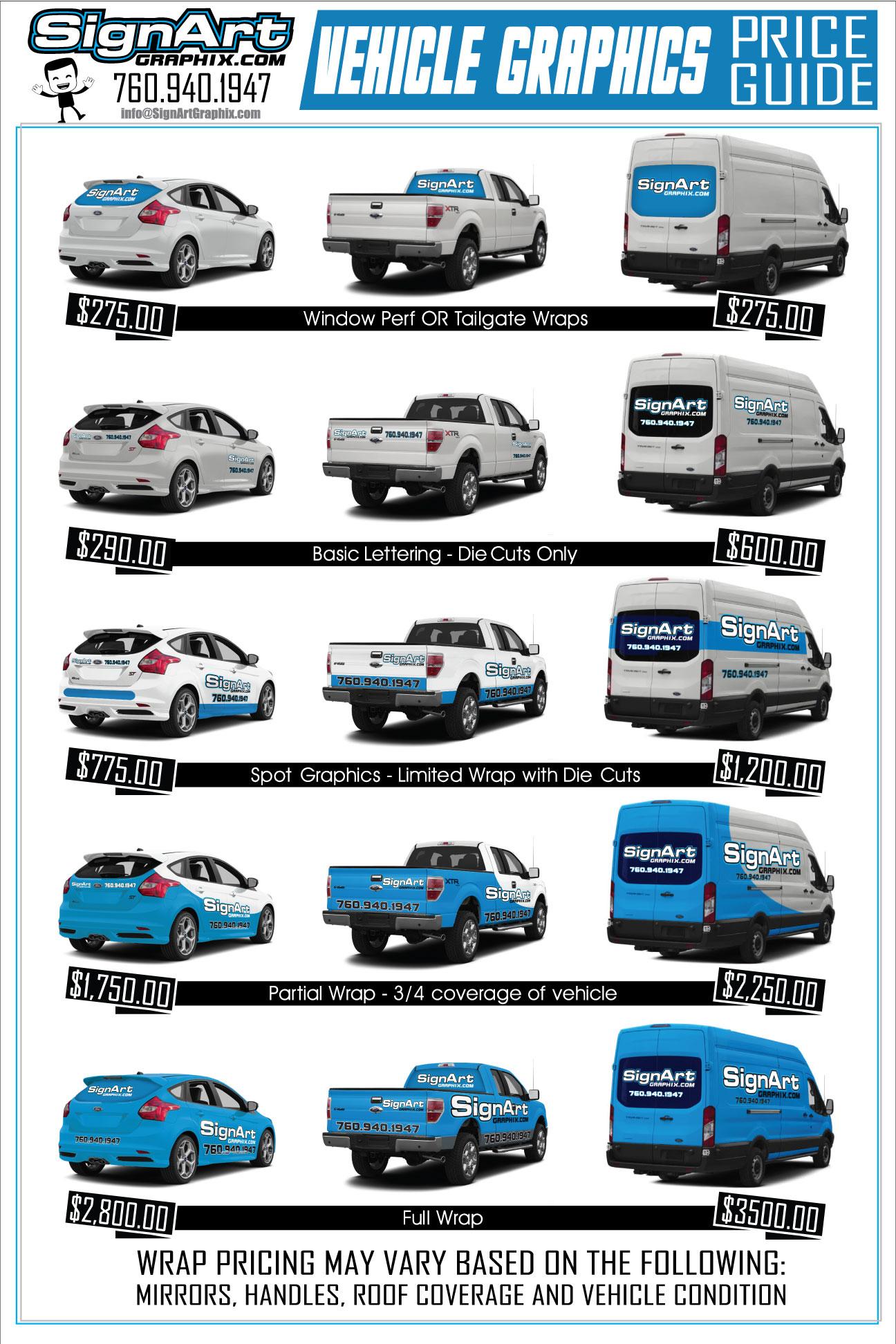 Custom Vehicle Wraps | Sign Art Graphix - Vista, CA