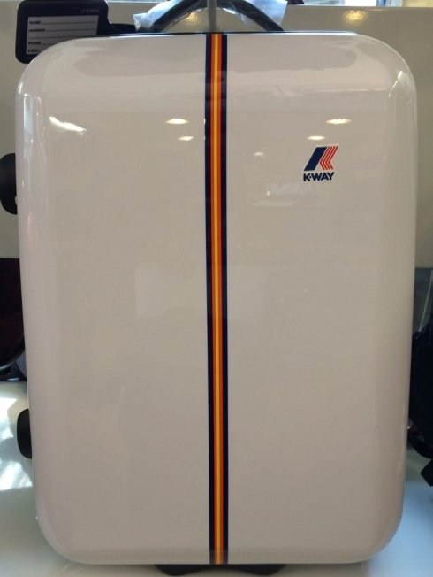 valigia rigida bianca