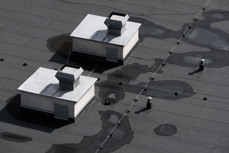 tetto impermeabilizzato vista dall'alto