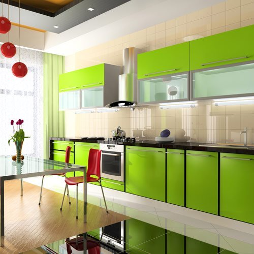 d and d custom built kitchens green kitchen