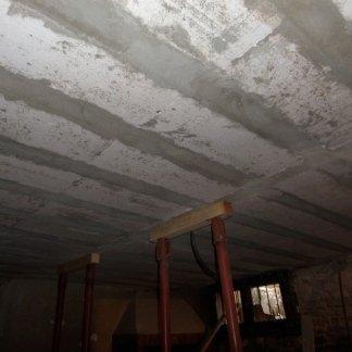 lavori in muratura, soffitti, soffitto in cemento