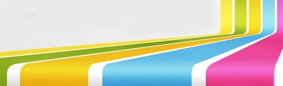 strisce di colore giallo, verde, azzurro e fucsia