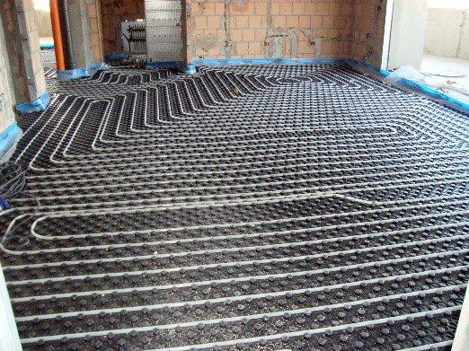 Impianto di riscaldamento del pavimento