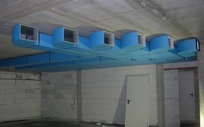 Impianto di canalizzazione per farmacia
