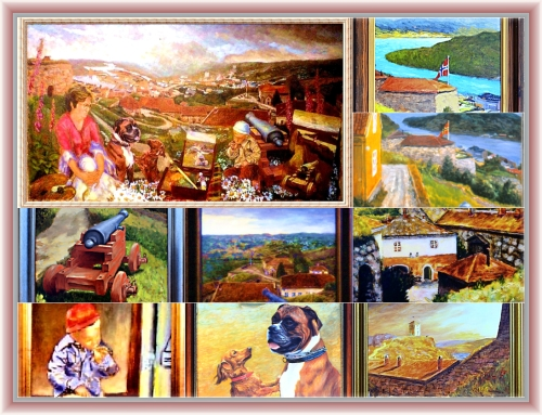 Paintings and studies collage by painter Odd K. Hauge.