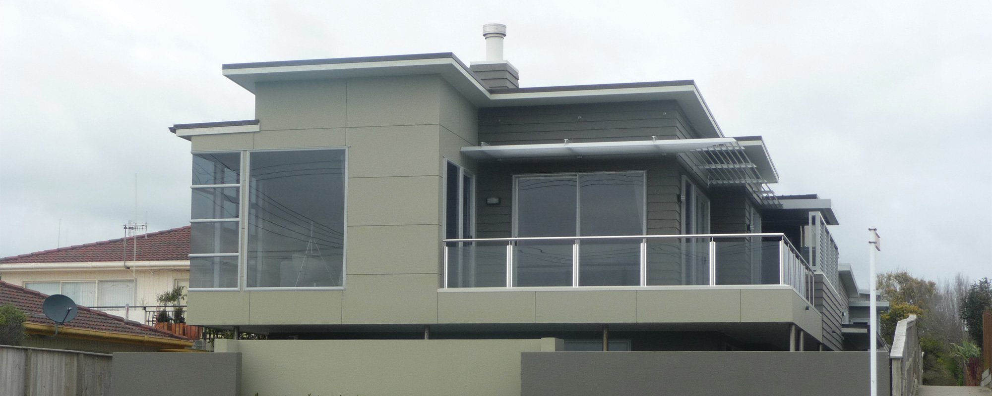 Exterior view of a newly constructed home