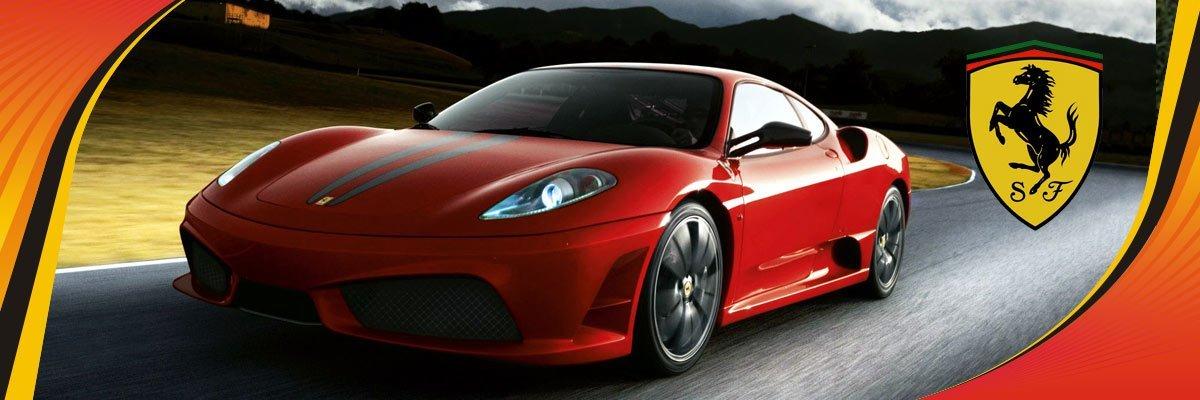 Power Crank Batteries Ferrari Banner