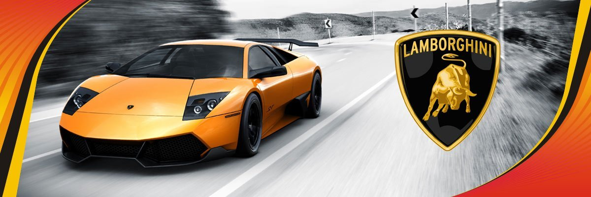 Power Crank Batteries Lamborghini Banner