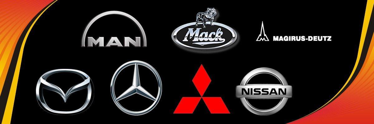 Power Crank Batteries Trucks Logo
