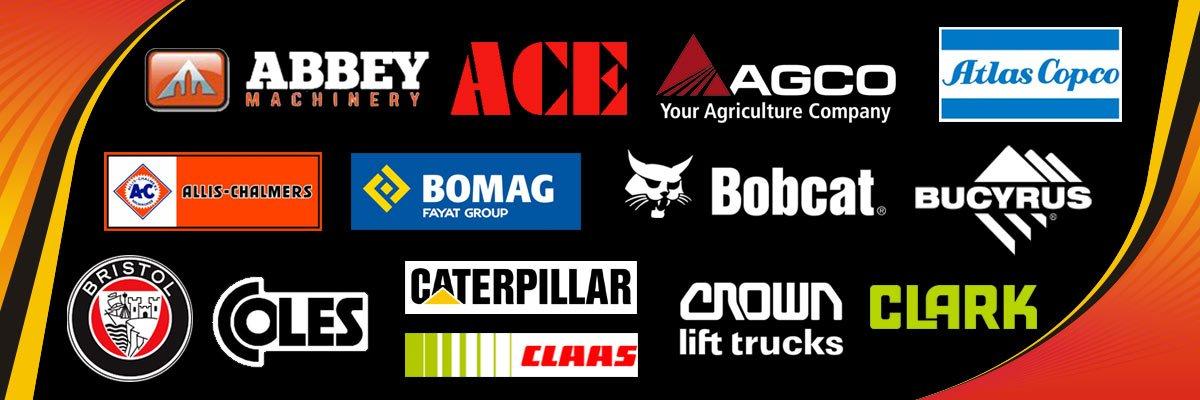 Power Crank Batteries Tractor Industrial Logo