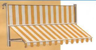 disegno 3d di tenda gialla e bianca