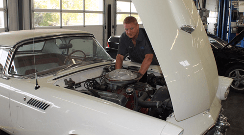 Professional doing the repair to the transmission in High Point, NC
