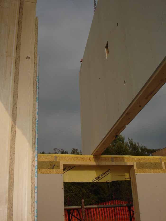 vista di un panello in legno