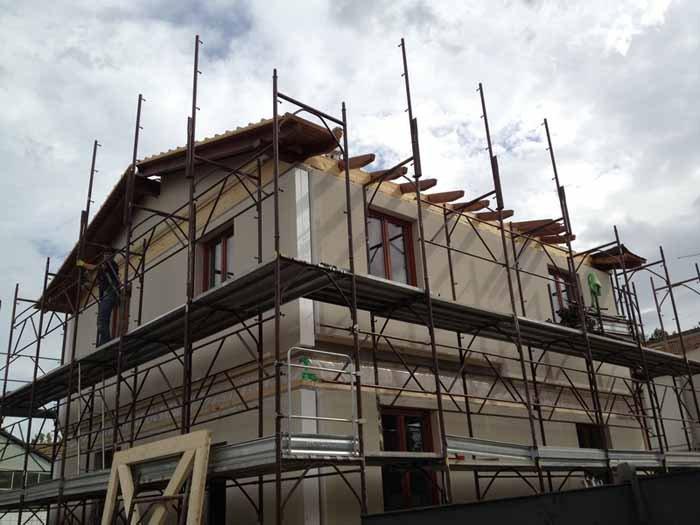 vista angolare di un costruzione edificio