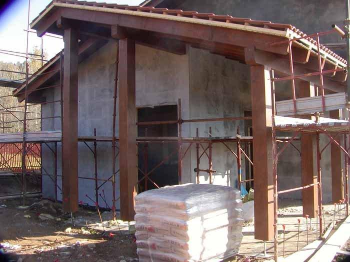 vista di una casa in costruzione