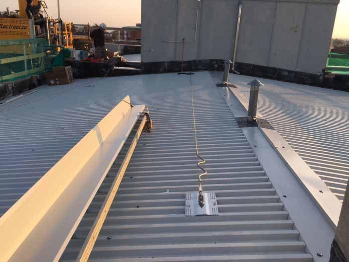 tetto di una fabbrica