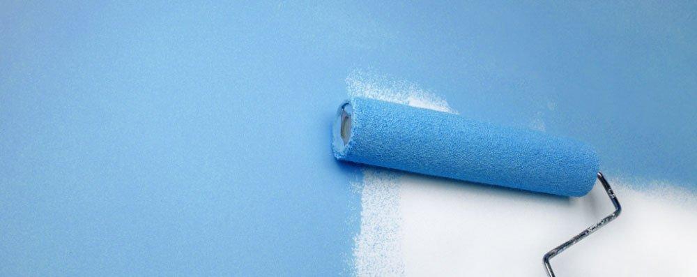 blue coloured paint