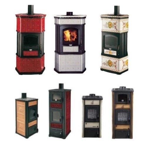 Stufe a legna Lincar anche con forno a scomparsa e cassettone porta legna