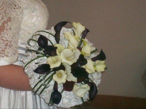 Bouquet Sposa bianco e nero