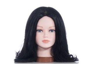 Parrucca di capelli nero corvino