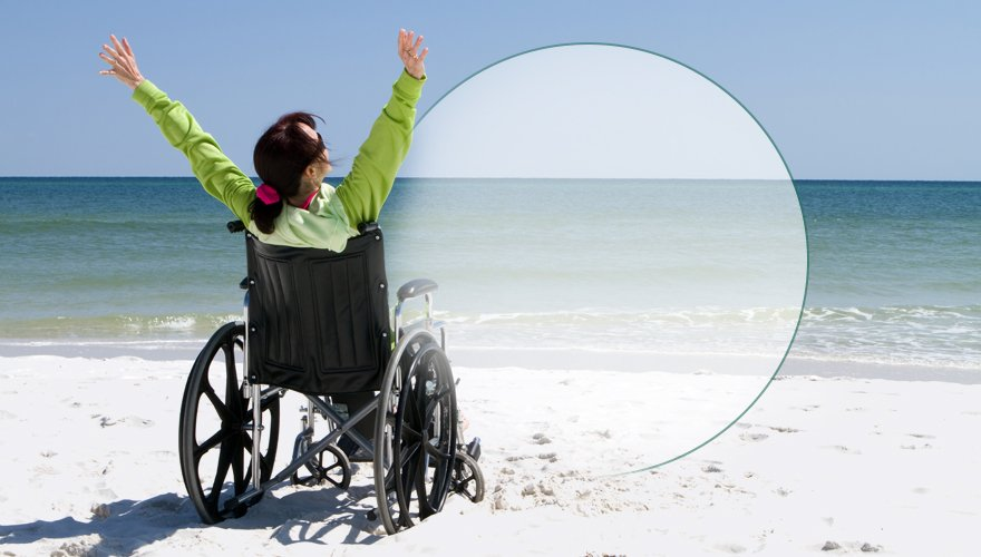 disabled on the beach