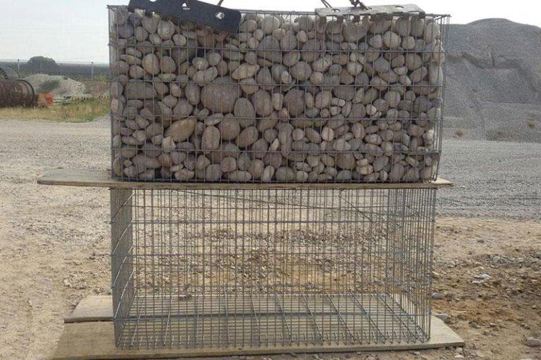 Gabbioni in ferro per edilizia