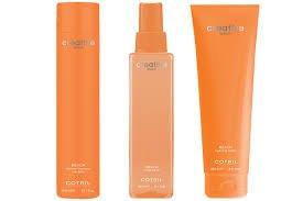 trattamenti per capelli in confezioni arancioni
