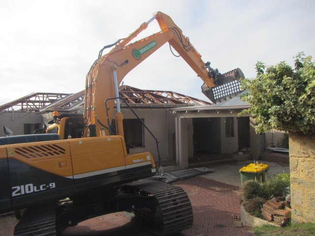 Equipment used by our demolition contractors in Perth