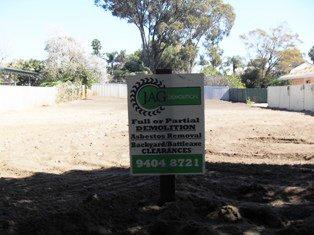 jag demolition work at site