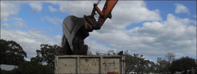 A demolition services machine in Perth